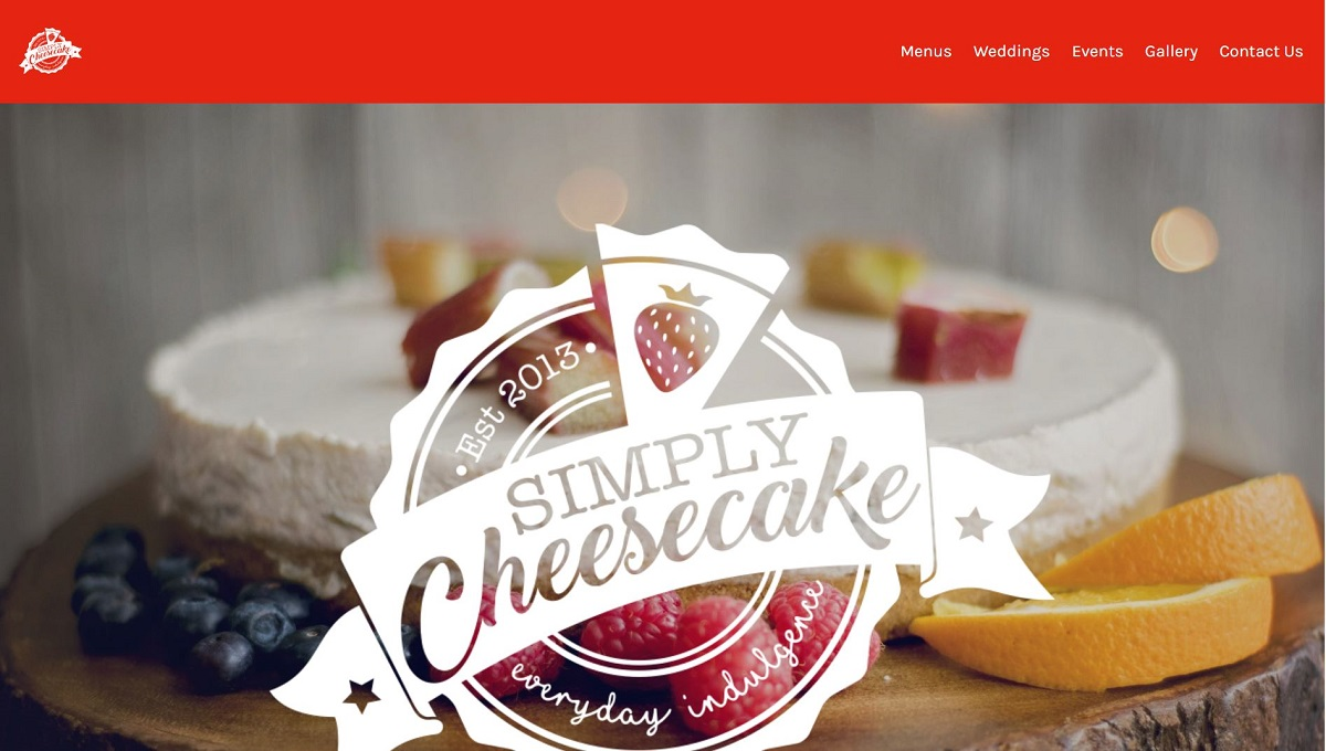 simply cheesecake website rebrand and content update