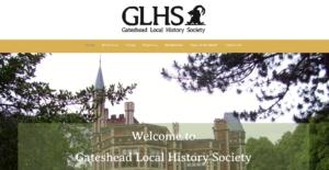 screenshot of gateshead local history society website pointe click to go to gatesheadlhs.uk